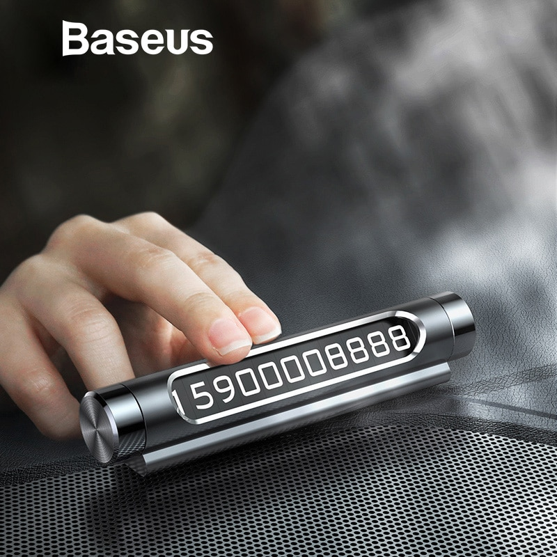 Baseus Car Temporary Parking Phone Number Card Notification Card Paste type