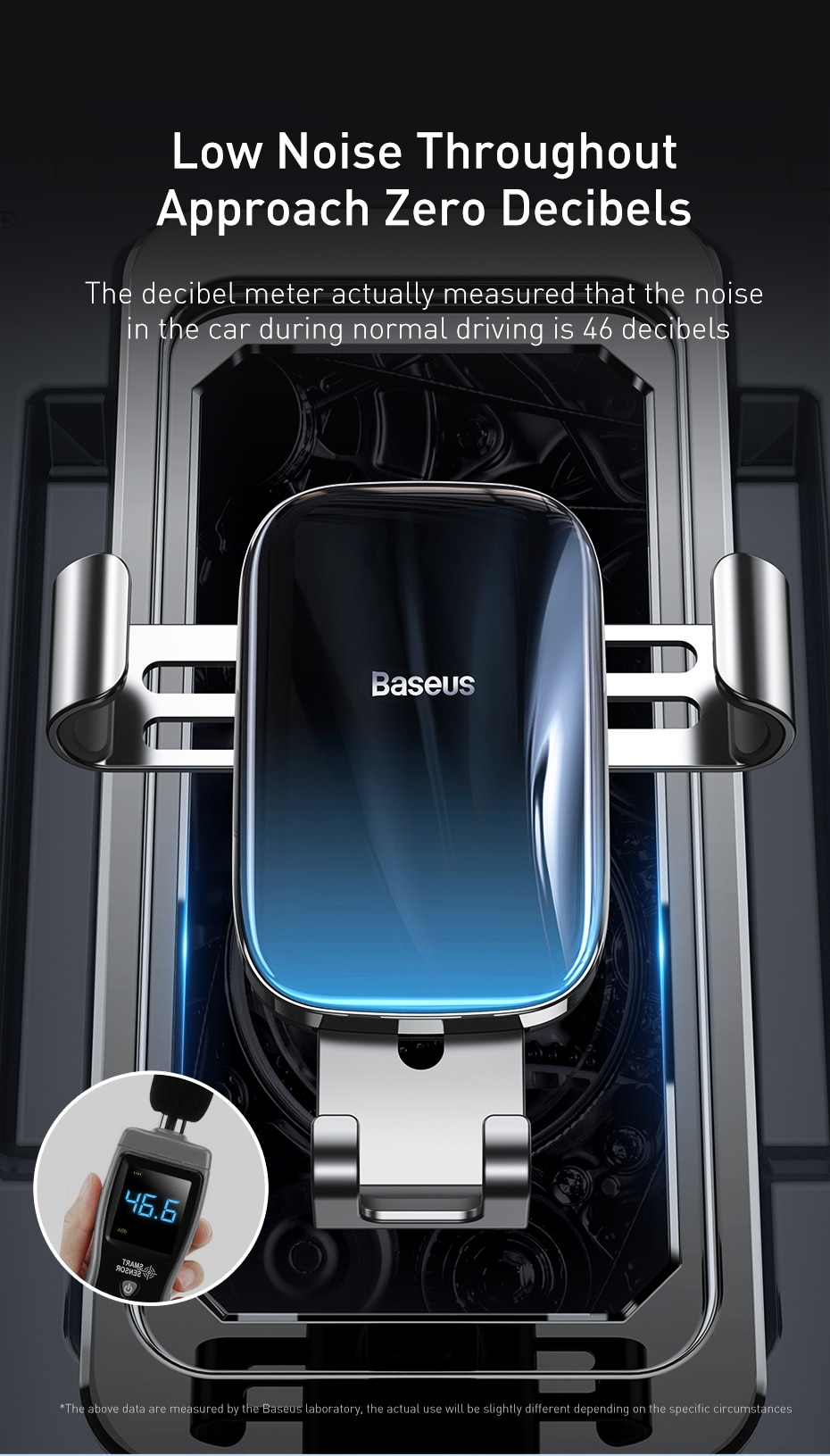 Baseus Metal Car Phone Holder Gravity Auto Stand Car Air Vent Mount Mobile Phone Holder for iPhone Xiaomi Universal Holder